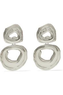 Pendientes de bronce blanco, de Leigh Miller. 309€.